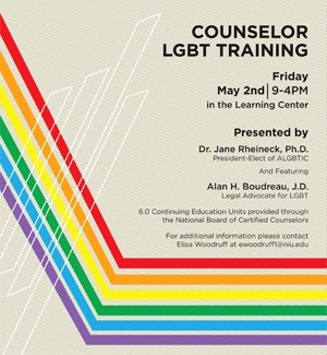 Counselor LGBT Training poster