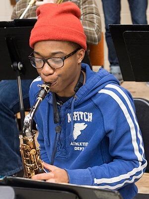 NIU student and jazz saxophonist