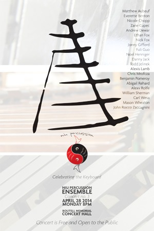 NIU Percussion Ensemble poster
