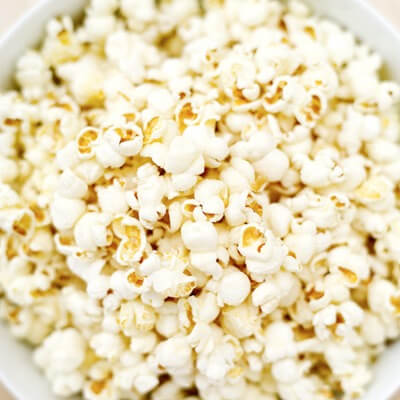 Photo of a bowl of popcorn