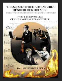 "Book cover of ""Part 1: The Problem of the Singular Stradivarius."""