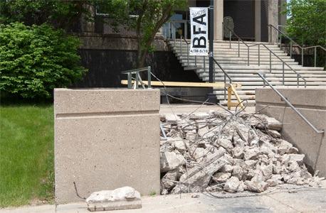 Construction at the Visual Arts Building