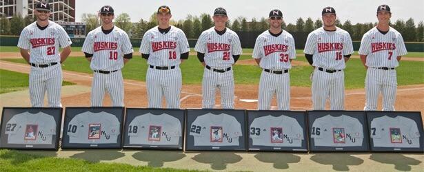 Seniors Chris Divarco, Joe Battaglia, Eli Anderson, Anthony Andres, Connor Schomig, Landon Tenhagen and Alex Klonowski.