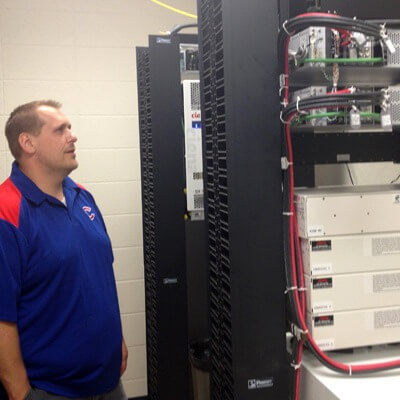 Eric Haan, district technology director for Eastland CUSD 308, has coordinated the district's participation in the iFiber network since the project began in 2011.