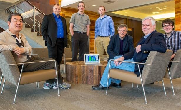 From left: Duck-Young Chung, Omar Chmaissem, Stephan Rosenkranz, Daniel Bugaris, Mercouri G. Kanatzidis, Ray Osborn and Jared M. Allred