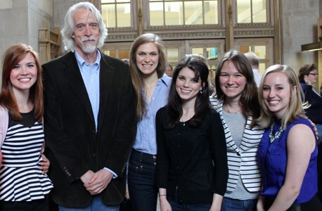 NIU Law professor David Taylor and students