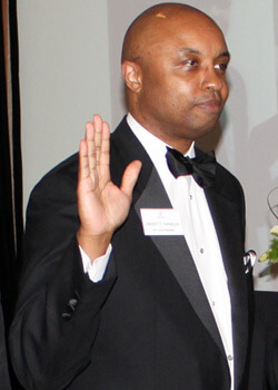 NIU Law alum Vincent Cornelius('89) is inducted as second vice president.