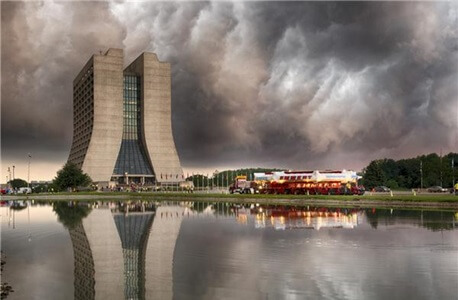 A giant magnet for the Muon g-2 experiment arrives at Fermilab in the summer 2013. Photo credit: Fermilab
