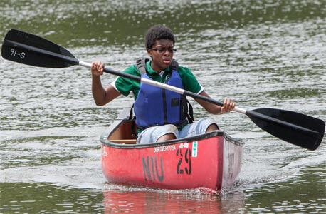 Canoe on the East Lagoon
