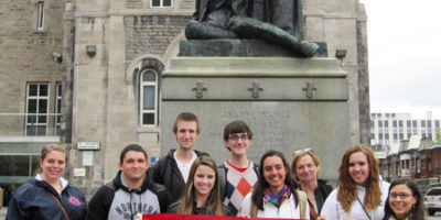 Students learn about Canadian Health Care and tour the Hotel Dieu Hospital Museum.