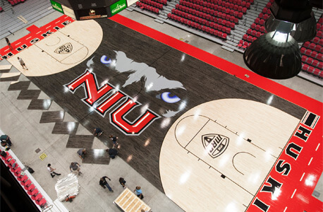 New basketball floor