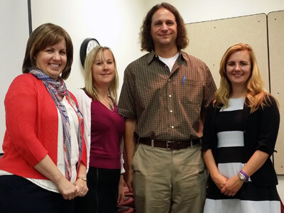 From left: Laurie Elish-Piper, Alecia Santuzzi, Daivd Walker and Kelly Summers