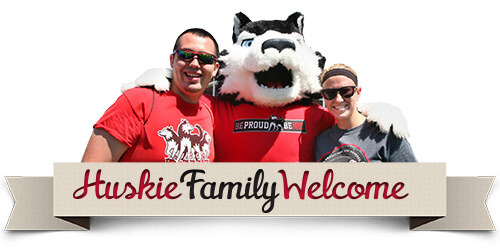 Huskie Family Welcome logo