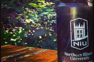 NIU-branded water bottle