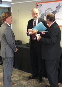 Jeff Kaney speaks with NIU President Doug Baker and Promod Vohra