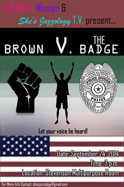 Brown V. The Badge poster