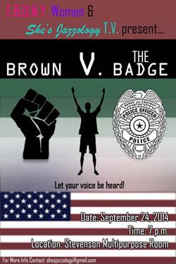 Brown V. The Badge poster