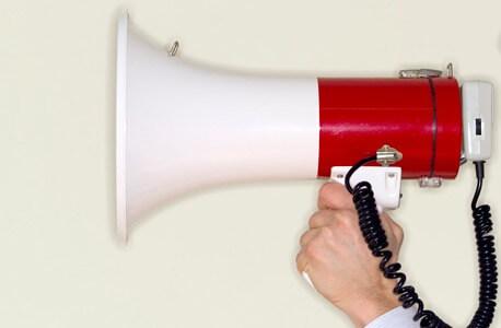 Photo of a megaphone