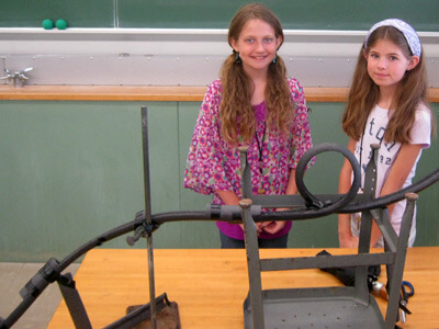 Students in Engineering Amusement learned about the physics of thrill rides by constructing their own roller coasters.