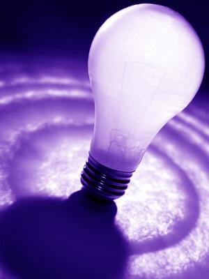 Photo of a light bulb