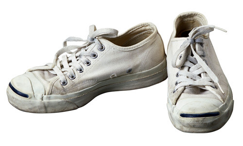 Photo of white sneakers