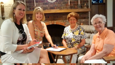 NIU First Lady Dana Stover (second from left) joins members of the University Women's Club.