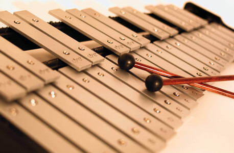 Photo of a xylophone with mallets