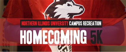NIU Homecoming 5K logo