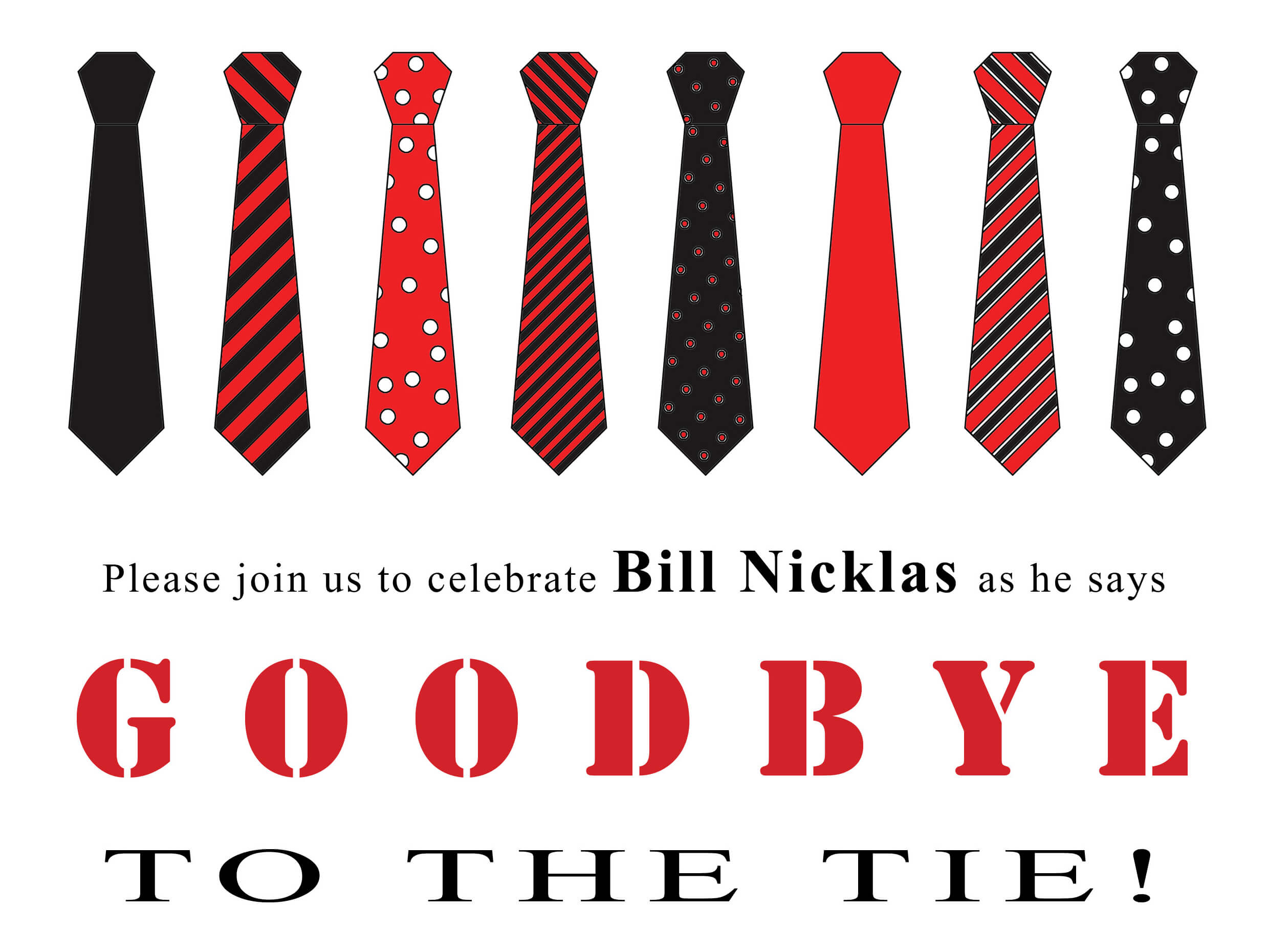 Goodbye to the tie