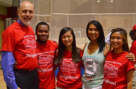 NIU President Doug Baker and friends