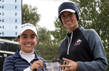 NIU's Lena Gautier (right) and Illinois' Dana Gattone