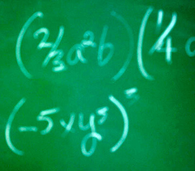 Photo of math equations on a chalkboard