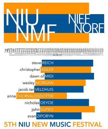 NIU New Music Festival poster