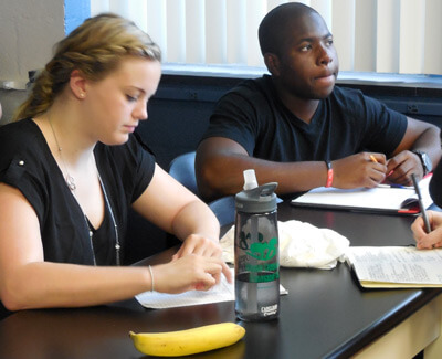 2014 summer research participants learn about responsible conduct in research.
