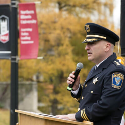 NIU Police Chief Tom Phillips