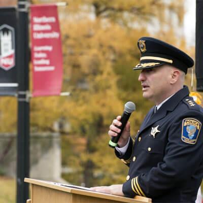 NIU Police Chief Tom Phillips