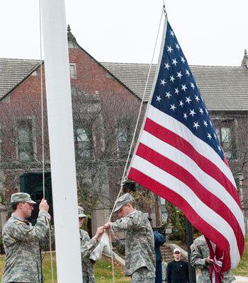 NIU Veterans Day ceremony, 2014