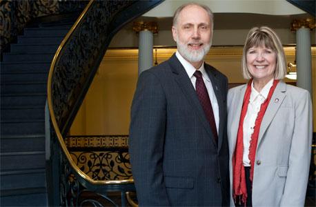 NIU President Doug Baker and First Lady Dana Stover