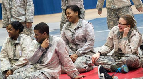 NIU ROTC cadets