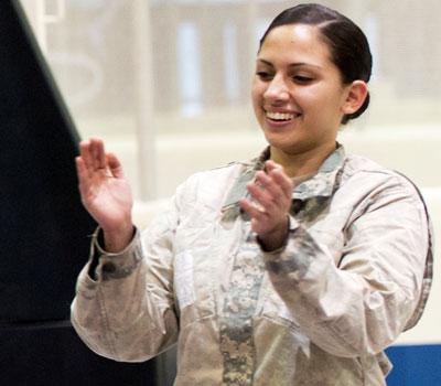Photo of an NIU ROTC cadet