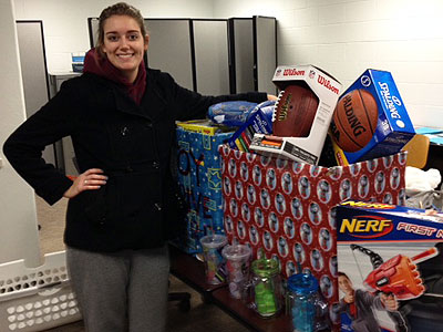 Nicole Sather is among the NIU students who made the gift drive a success.