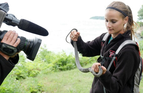 Lizzy Mack during filming of the Great Lakes Wild Episode. Credit: Amanda Buckiewicz