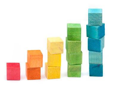 Columns of building blocks