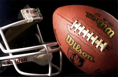 Photo of a football and helmet