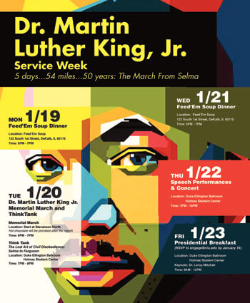 Dr. Martin Luther King Jr. Service Week poster