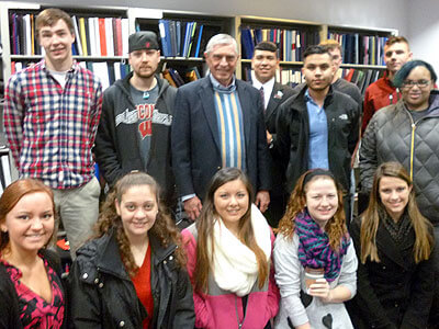 Rep. Bob Pritchard and University Honors students
