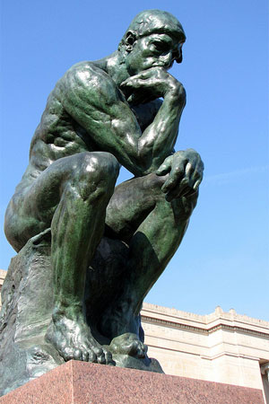 """A photo of """"The Thinker"""""""