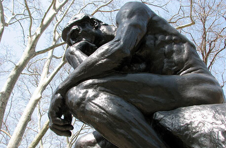 "A photo of ""The Thinker"""