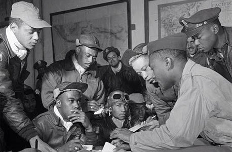 Photo of Tuskegee Airmen (courtesy of Chicago chapter)