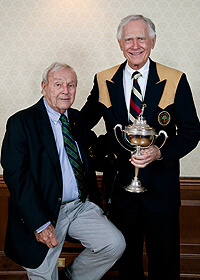Arnold Palmer with NIU alumnus Jerry Rich